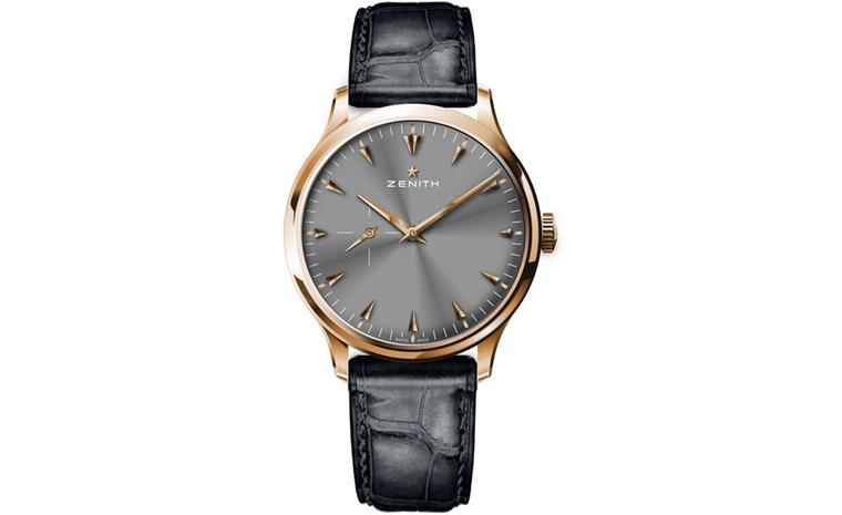 The Zenith rose gold simple three hand watch with automatic movement represents a clear return to classicism for this brand.