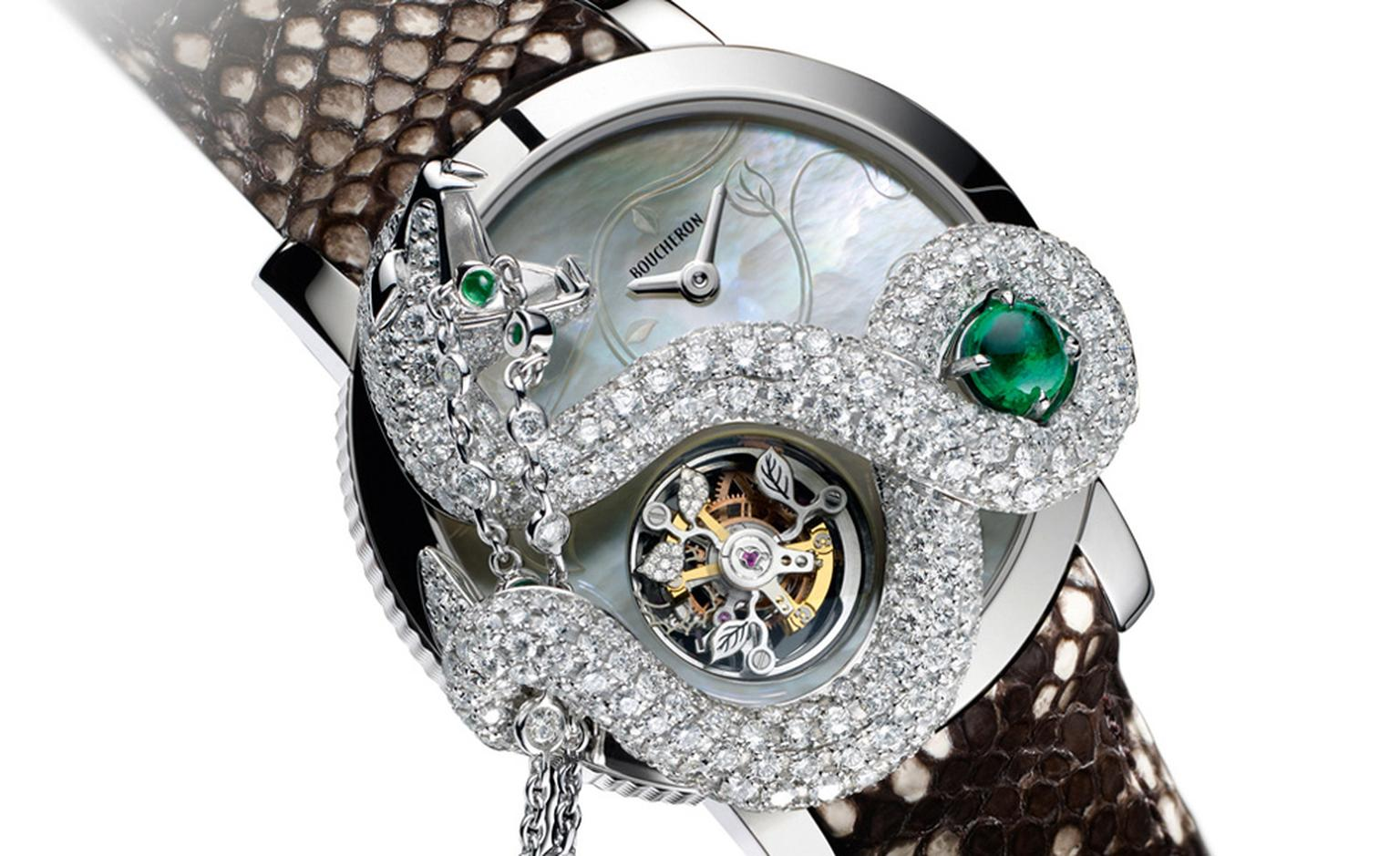 Boucheron's Serpent Tourbillon watch shows both the watchmaking skills and extravagant creativity of this jeweller.