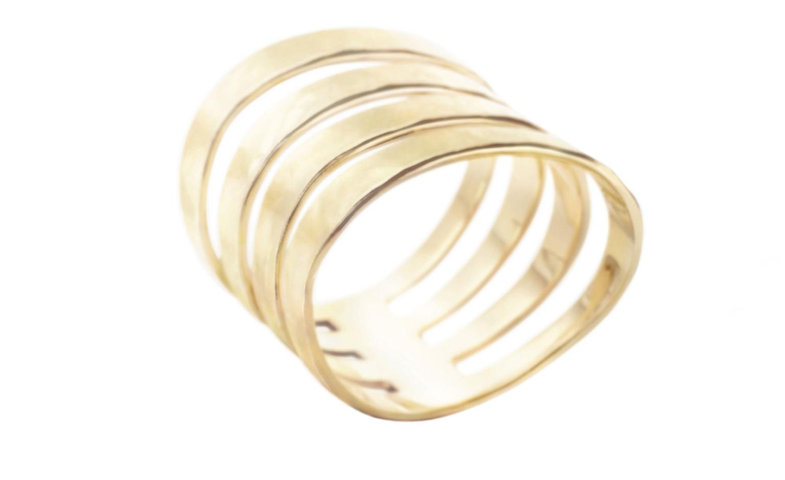 H STERN, COPAN Ring in yellow gold.