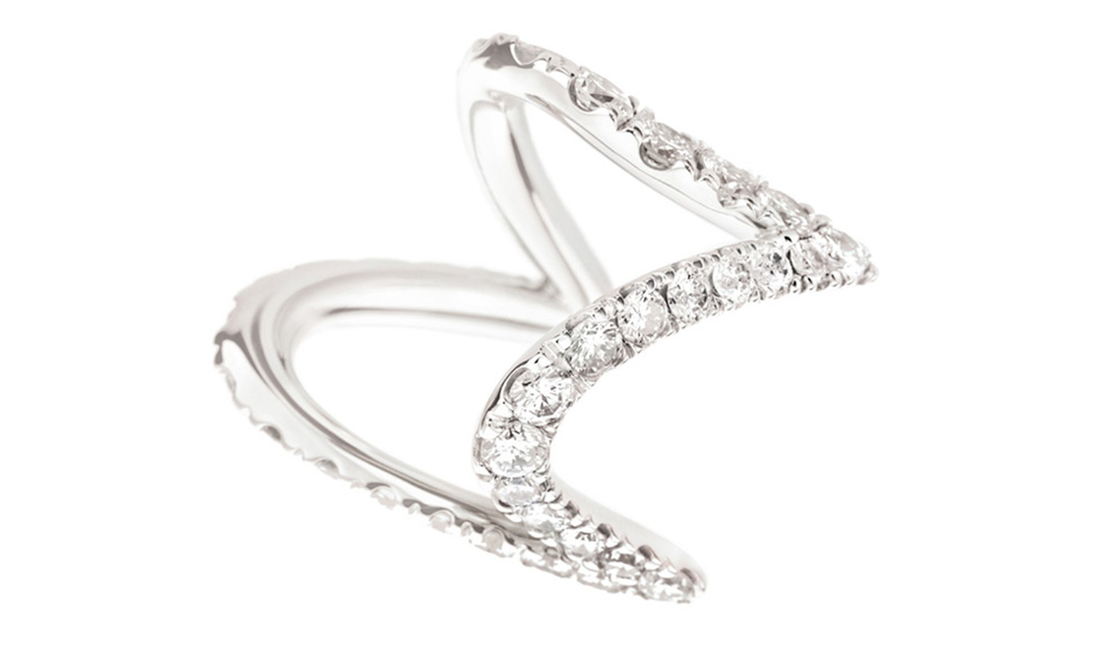 H STERN, PAMPULHA Ring in white gold and diamonds.
