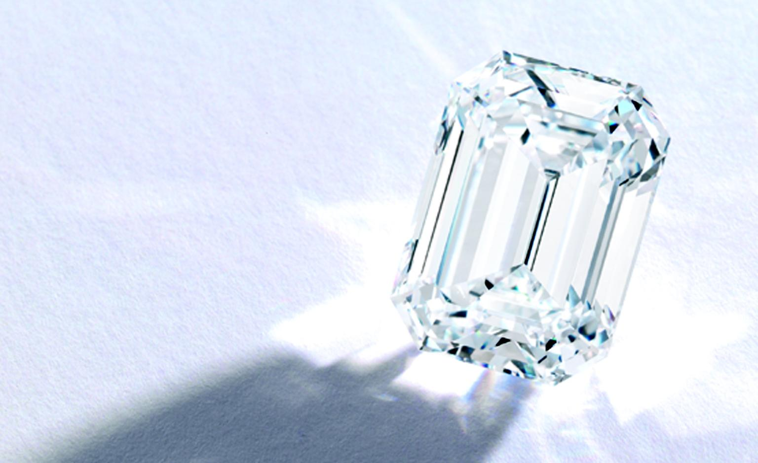 Lot 383 A Magnificent Emerald-Cut Diamond 30.52 carat DVVF 1  Est. $3/4 million. SOLD FOR $3,386,500