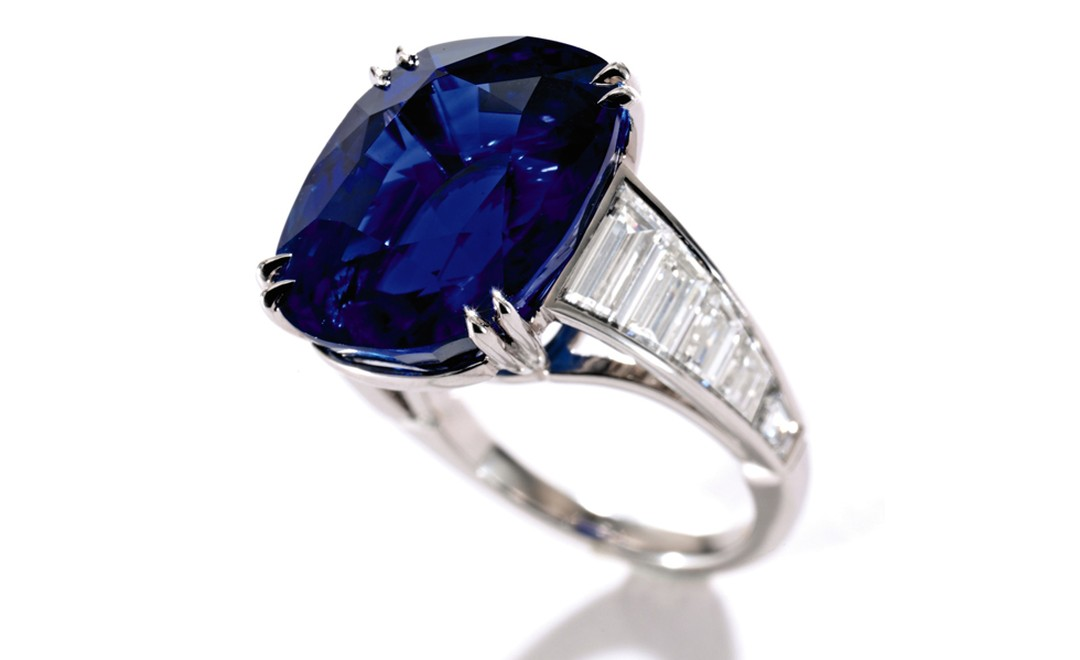 Lot 343, Platinum, Sapphire and Diamond Ring Est. $700,000/1 million.  SOLD FOR $794,500