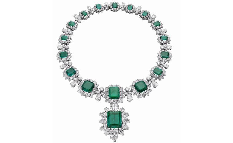Bulgari Emerald necklace that was part of a parure by Bulgari and given to Elizabeth Taylor by Richard Burton
