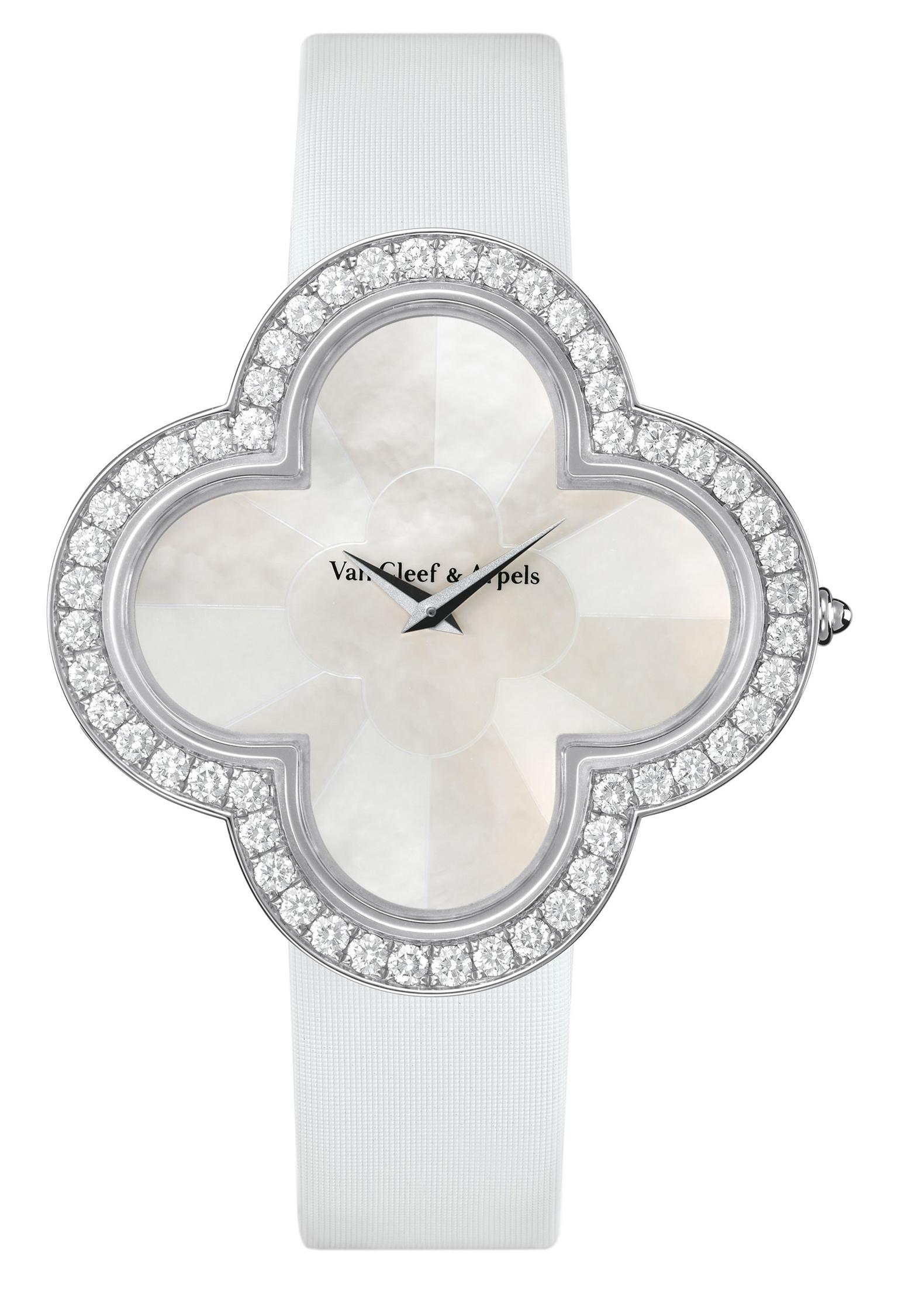 Van Cleef & Arpels white gold Alhambra Talisman watch