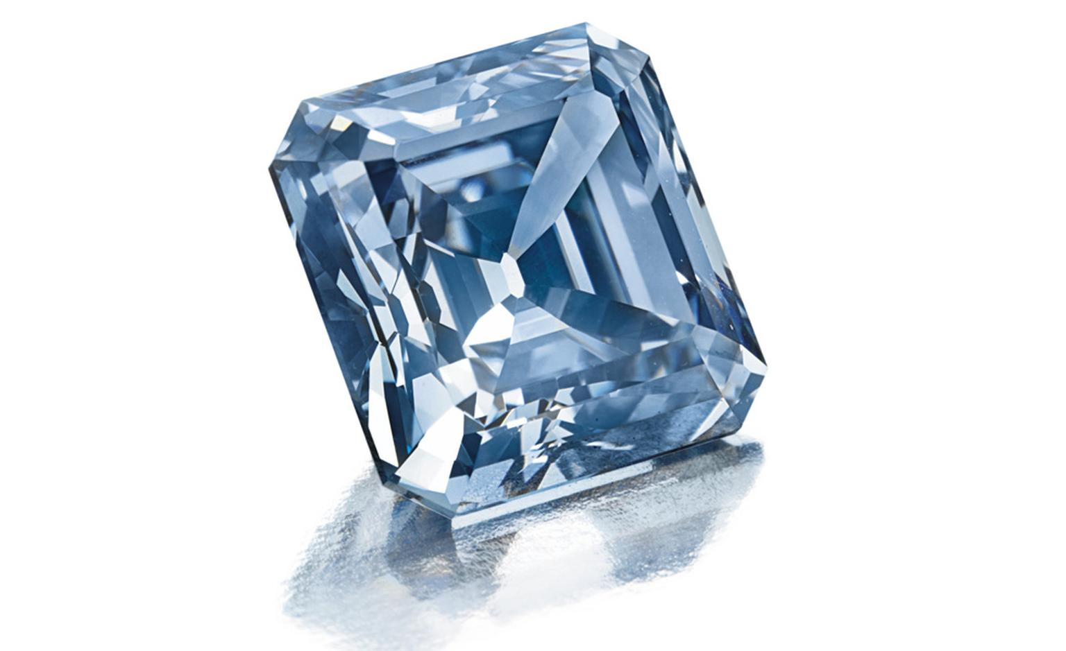 Lot 292 (est $2,000,000-$3,000,000) is a superb internally flawless fancy vivid blue diamond ring. The diamond weighs approximately 3.25 carats. It is an incredibly beautiful color. Christies Images Ltd. 2010. SOLD FOR $3.666.500