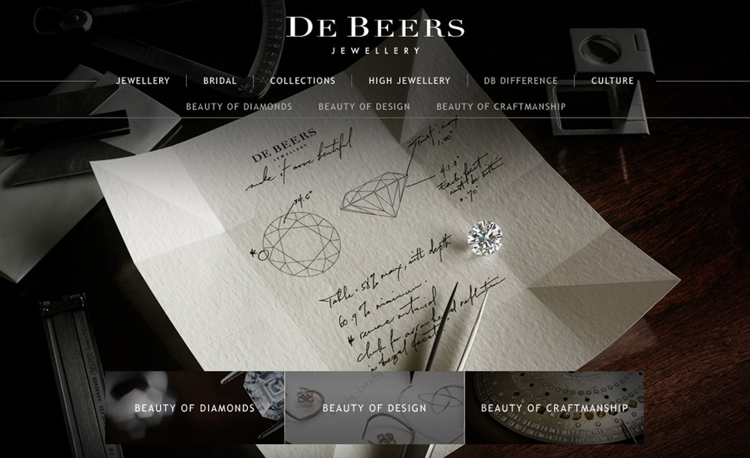 Image from De Beers new website