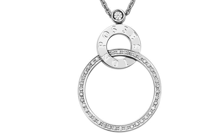 This Piaget Possession pendant is being offered as second prize for those who order a glass of Louis Roederer champagne at Cafe Luc in Marylebone, London over the Royal Wedding weekend.