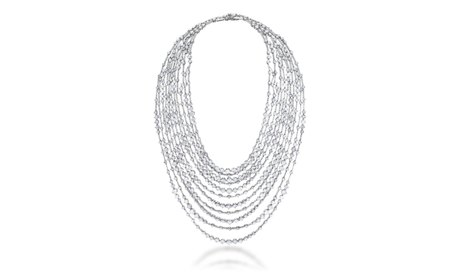 DE BEERS, Arpeggia Collection, eleven-lines necklace in white gold an diamonds. POA