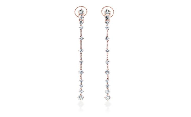 DE BEERS, Arpeggia collection, one-line earrings in pink gold. POA