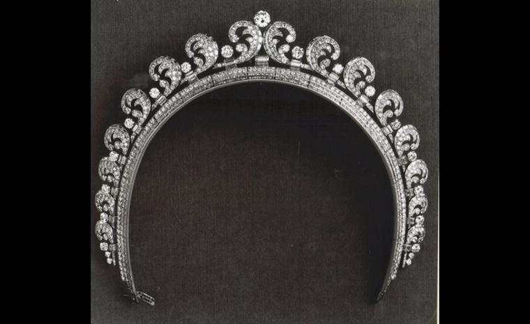 Cartier 1936 Halo tiara as worn by Kate Middleton at her wedding to Prince William. The tiara was made in Cartier's London workshops and includes almost 800 diamonds.Photo: Cartier archives