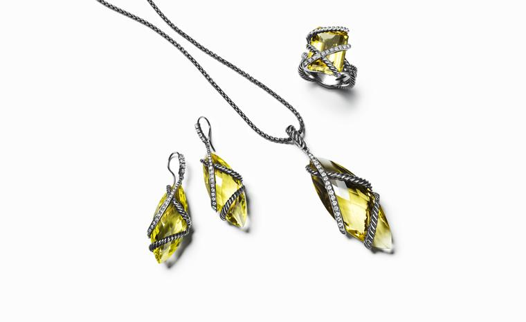 DAVID YURMAN, Cable Wrap Collection Lemon Citrine. Earrings, POA. Pendant, $1800. Ring $2300. jpg