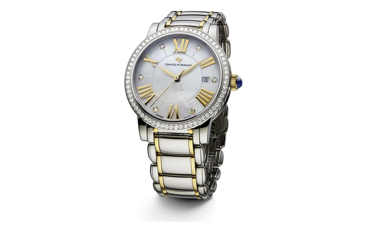 DAVID YURMAN, Ladies Steel & 18k Gold Timepiece, $5,900