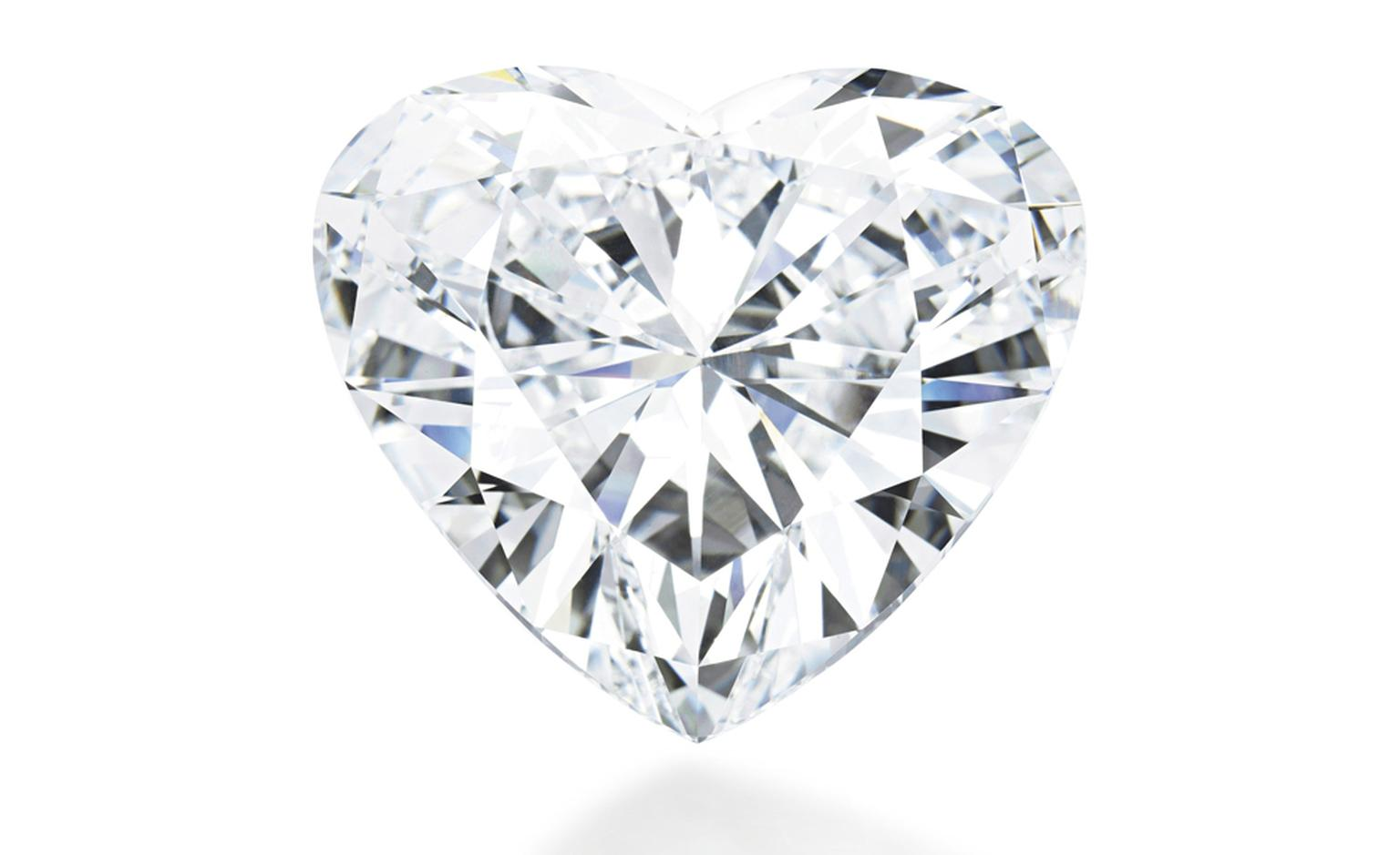 Lot 316. A magnificient unmounted diamond. The heart-shaped diamond weighing 56.15 carats, in red leather fitted case. Estimtate CHF 8,600,000 - CHF 11,500,000 SOLD FOR CHF 9,619,000