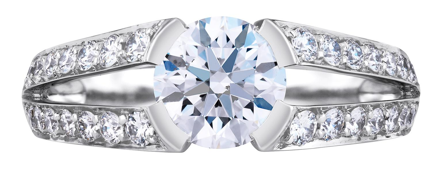 ring collection solitaire the furl from narrative diamond engagement village goldsmith rings