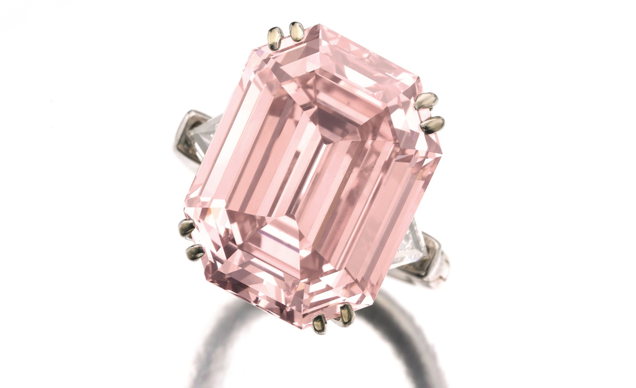 Lot 491. Very important and rare fancy intense pink diamond ring sold for US10.8 million (CHF 9,602,500) making it the 9th highest price paid for a pink diamond at auction. The pre-sale estimate was CHF 8,300,000 - CHF 14,8000,000