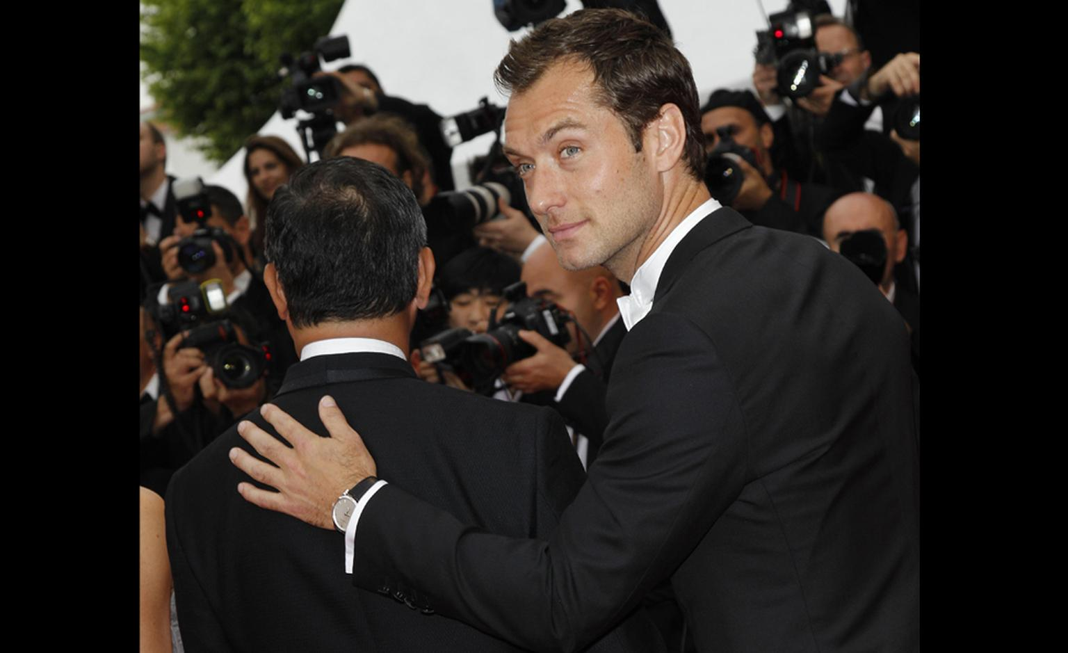 Jude Law with LUC Chopard XPS white gold watch at Cannes Film Festival 2011
