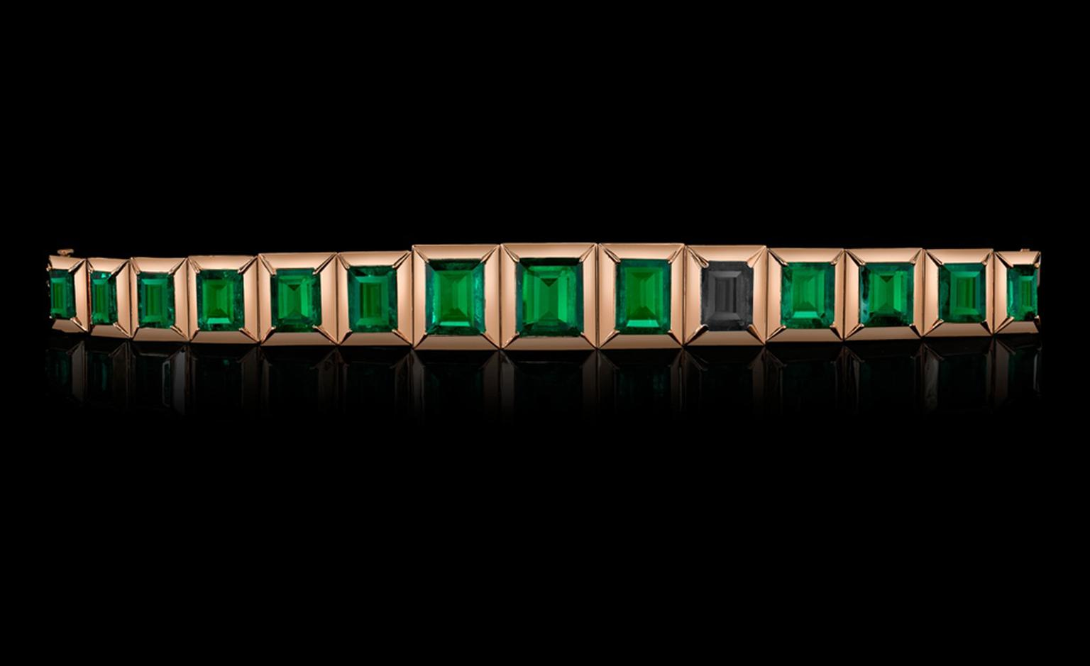 Style of Jolie Emerald Bracelet, a jewellery collection created by Angelina, the proceeds will benefit her charity The Education Partnership for Children of Conflict