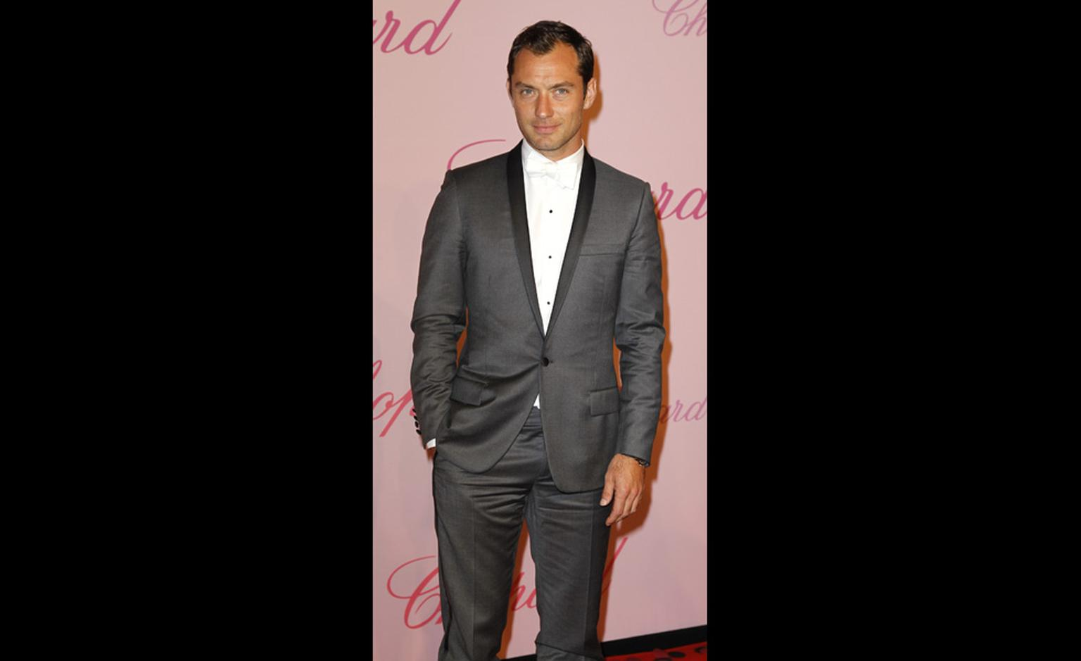 Jude Law at Chopard's Crazy Diamonds party at the Cannes Film Festival 2011 wearing a Chopard watch.