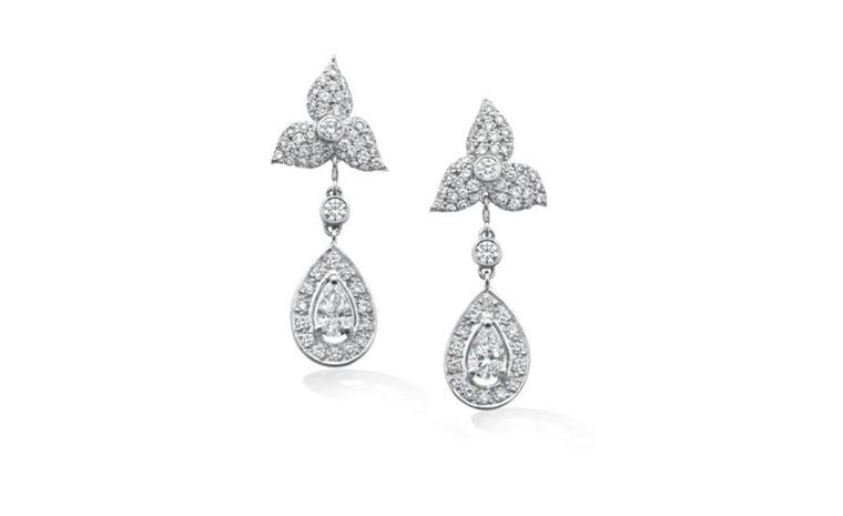 The earrings worn by Pippa Middleton at the Royal Wedding. They were made to order by London jewellers Robinson Pelham Jewellers Ltd.