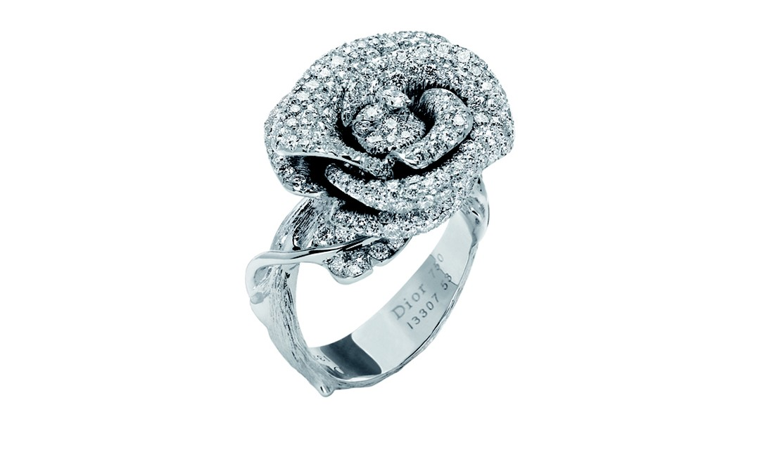 DIOR, Bagatelle ring in white gold with diamonds. Price from £17,000