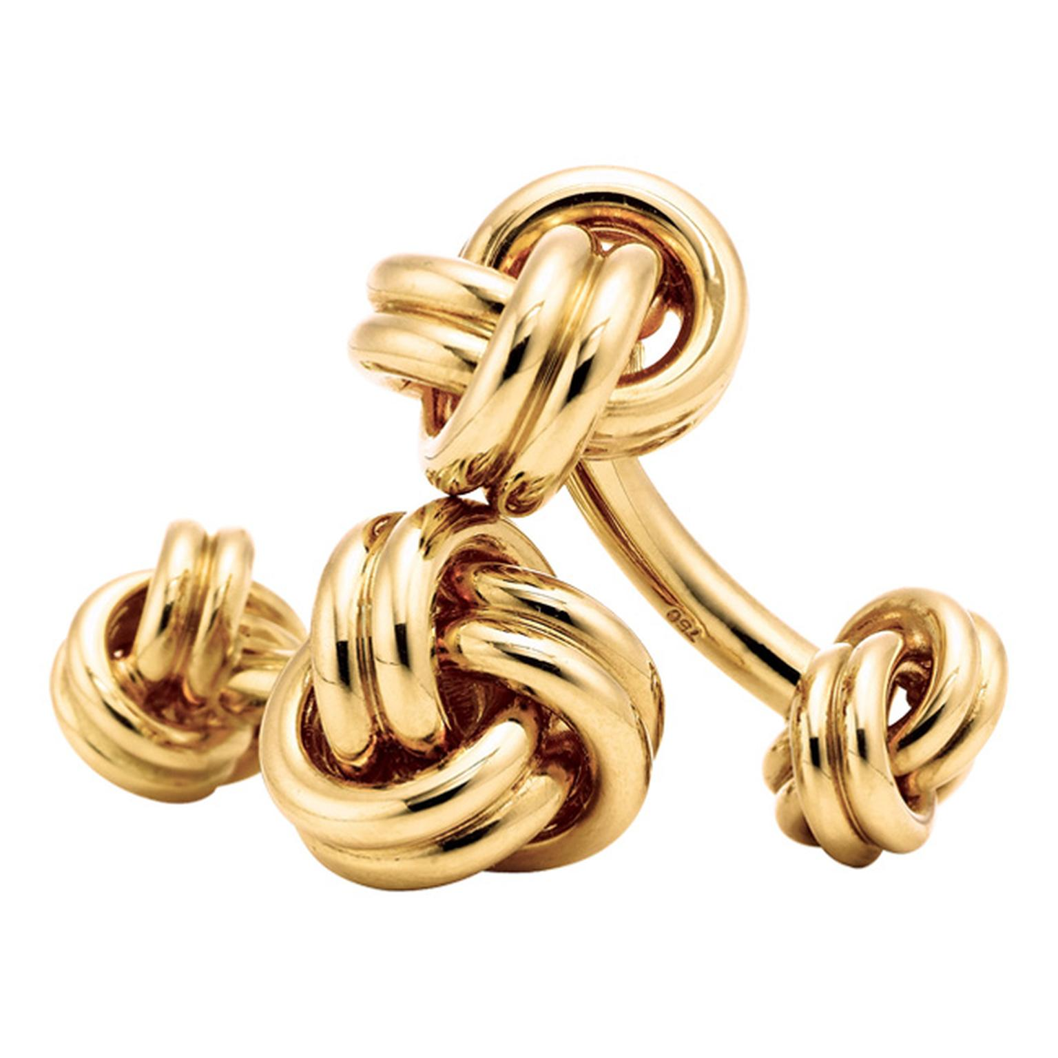 Tiffany & Co Gold Knot Cufflinks_20130412_Main