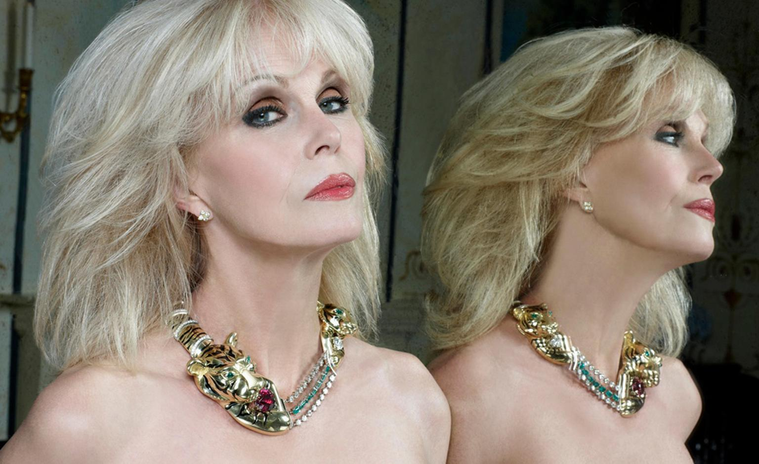 Joanna Lumley wearing the Shere Khan Necklace