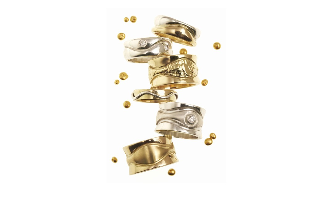 April Doubleday 18ct ethical gold rings