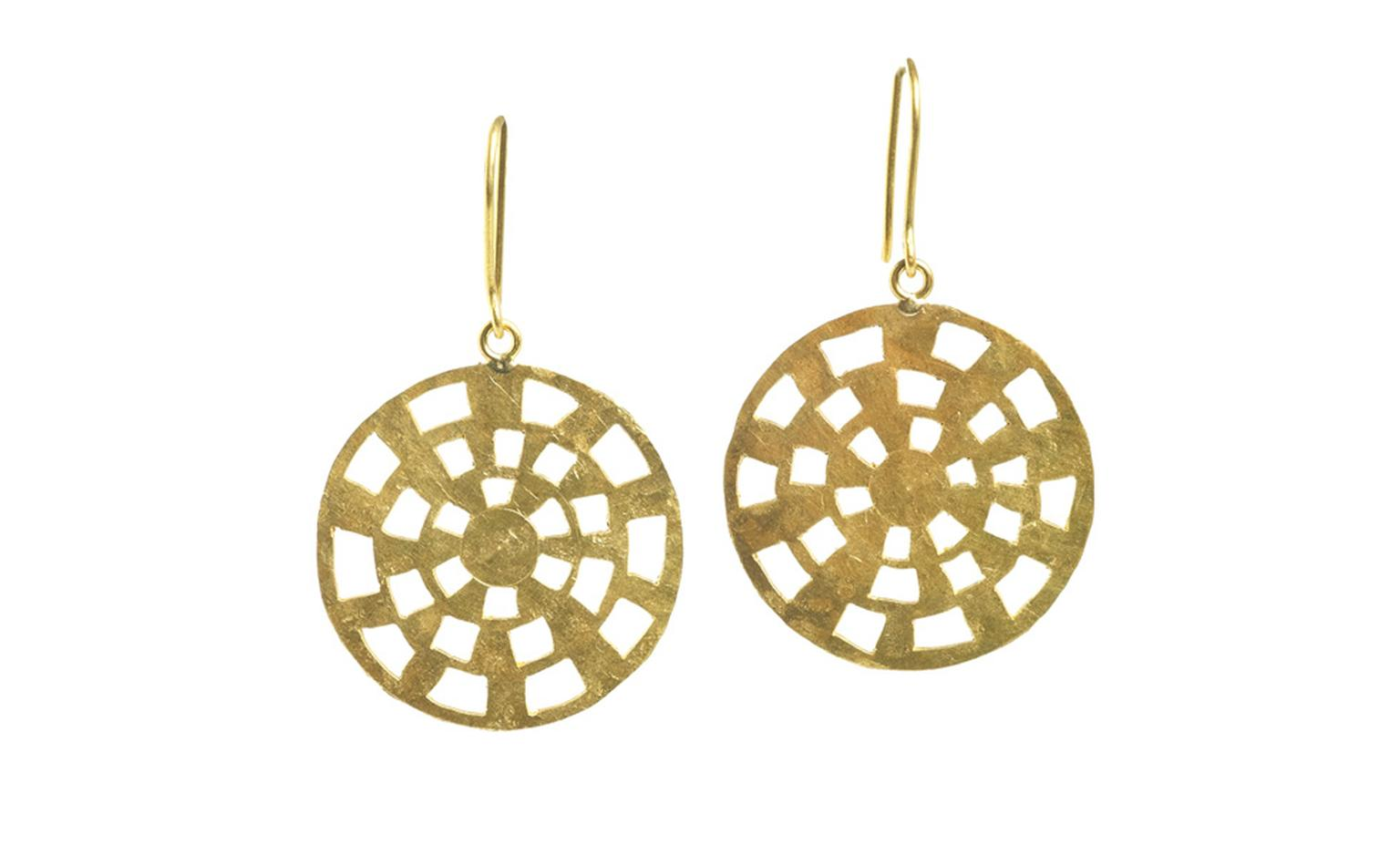 Pippa Small Fairtrade gold earrings. These disc earrings capture the boho chic feel of Pippa's jewels, and none more so than these earrings with a squeaky clean conscience.