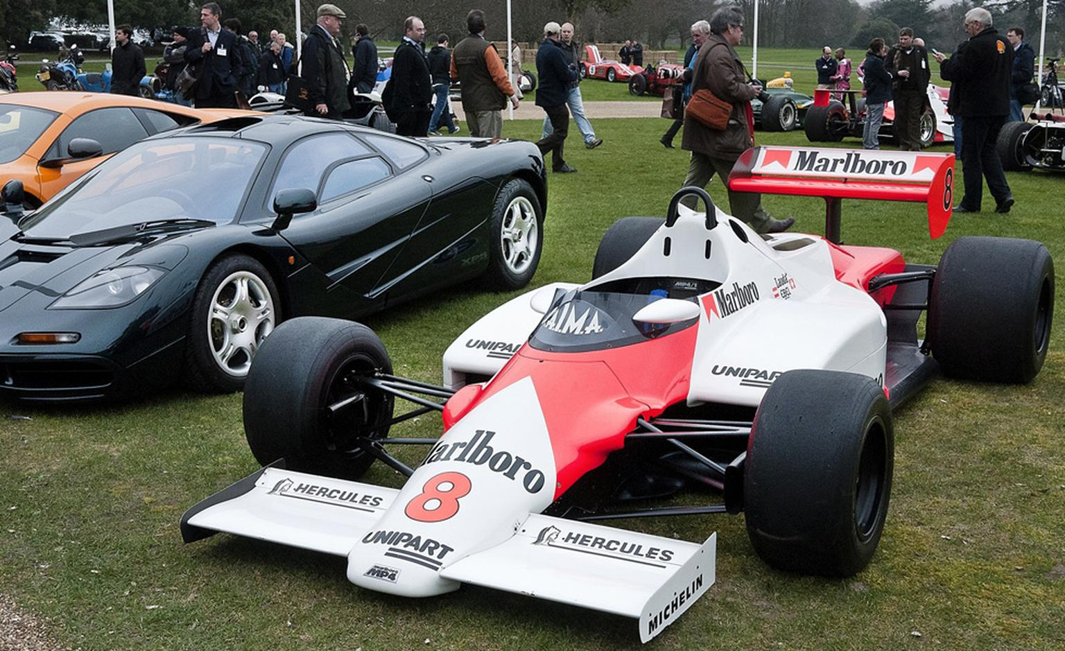 The McLaren Formula 1 car at Goodwood