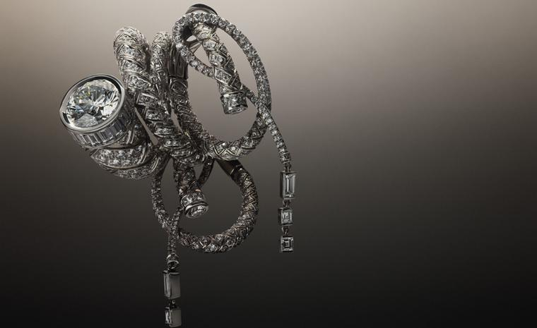 Hermès Fouet collection in platinum with diamonds.