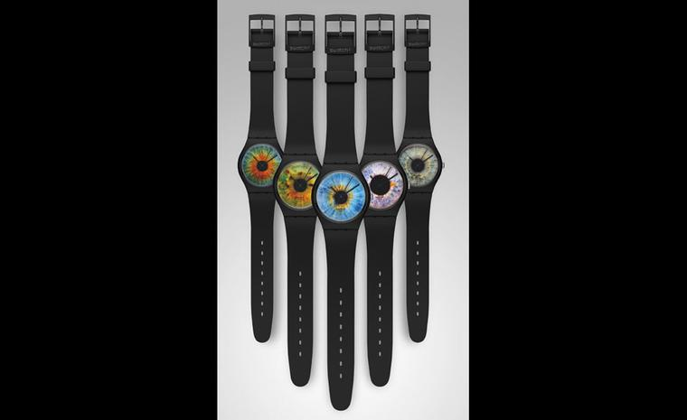 The five Rankin Swatch watches that make up the Limited Edition set of five for £190.50 sold in a box set - collectors have started to snap these up.