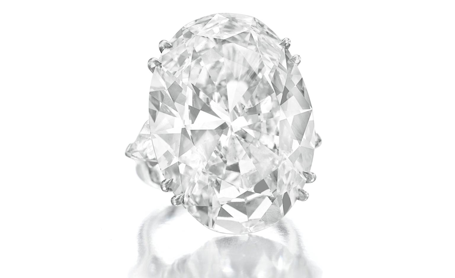Lot 125. An impressive diamond ring. Estimate 2,500,000 - 3,500,000 U.S. dollars. SOLD FOR $4,226,500
