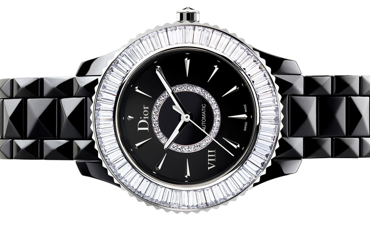 DIOR VIII 33mm automatic with baguette diamonds