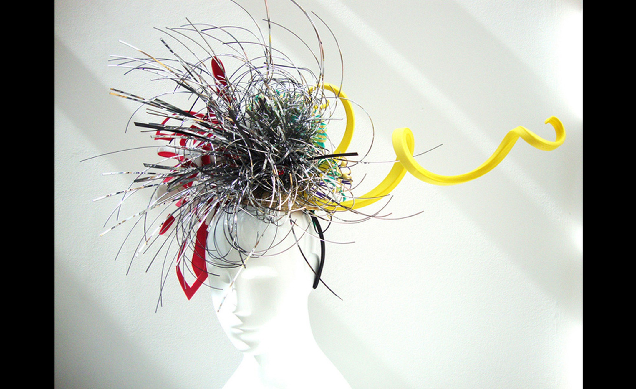 Hsiao-Chi Tsai: Royal Ascot Sea Creature Reversible Hat, front view of the couture hat.
