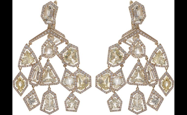 The Chopard diamond earrings that Elizabeth Hurley chose to wear the 2011 White Tie and Tiara Ball.