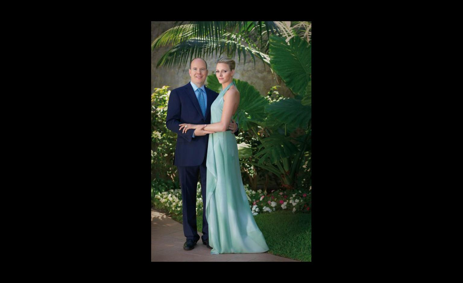 Official wedding photograph of Prince Albert II with Charlene Wittstock. Photo: Prince's Palace of Monaco