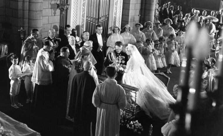The 1956 marriage of Prince Rianier III to Princess Grace in Monaco. Photo: Prince's Palace of Monaco