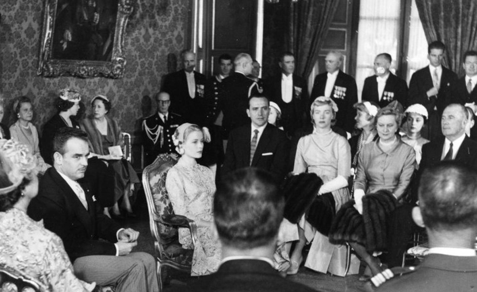 Civil wedding of Prince Rainier III and Princess Grace, Monaco 1956. Photo: Prince's Palace Monaco