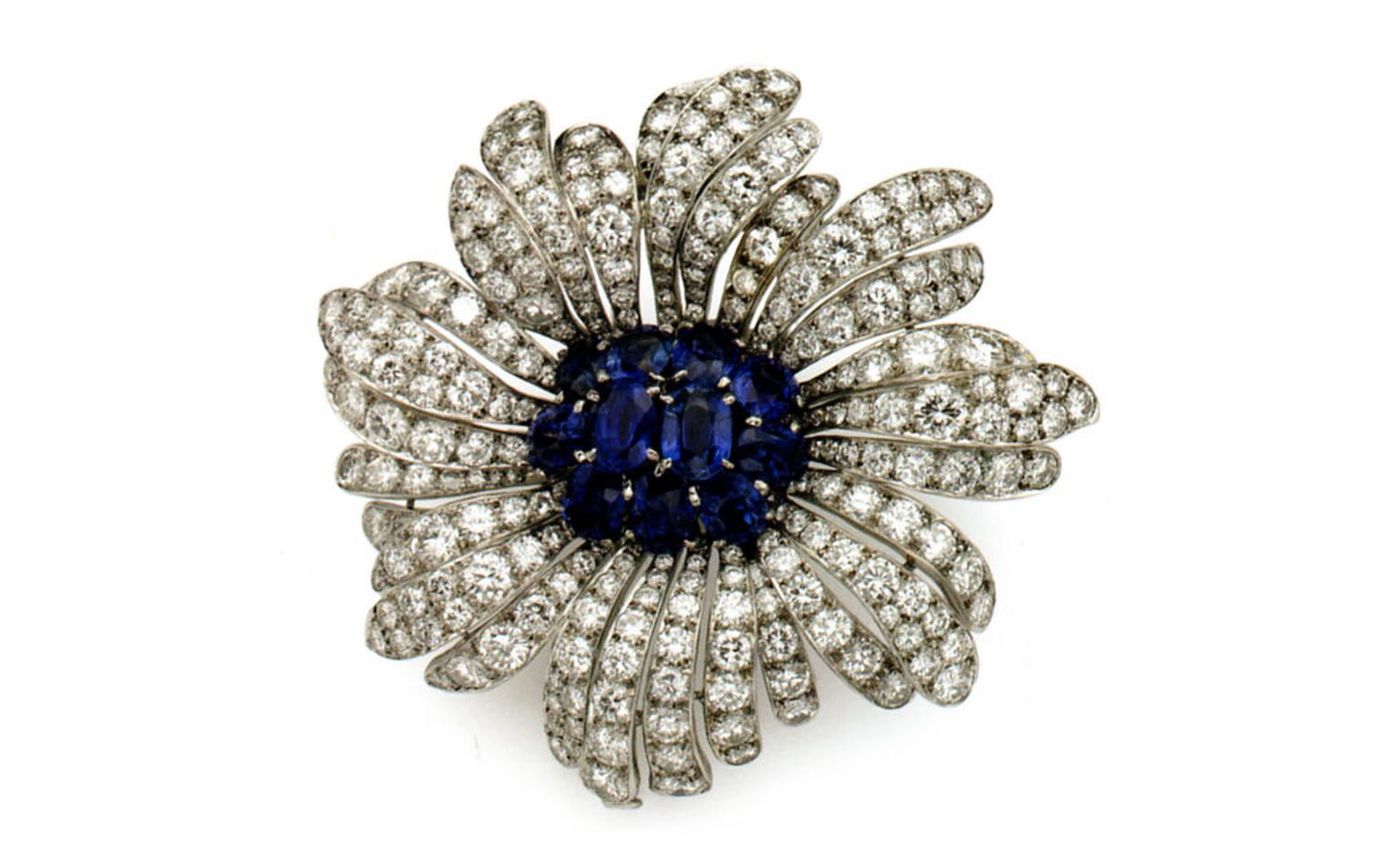 Van Cleef & Arpels diamond and sapphire brooch belonging to Princess Grace.