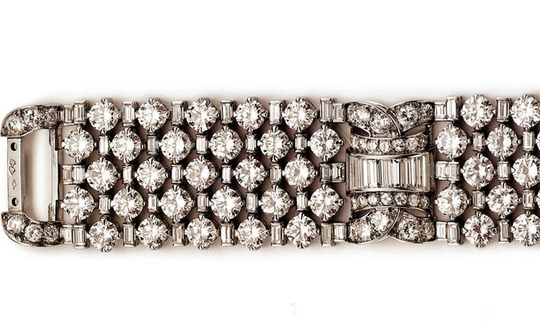 Van Cleef & Arpels diamond  lattice bracelet belonging to Princess Grace.