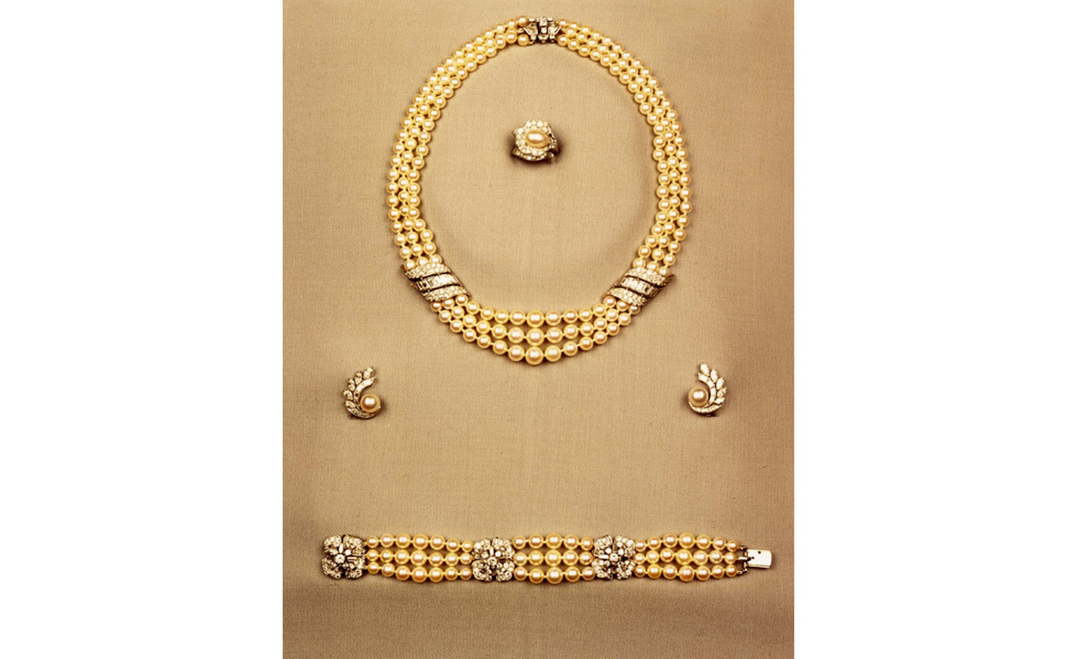 Van Cleef & Arpels set of engagement jewels belonging to Princess Grace.