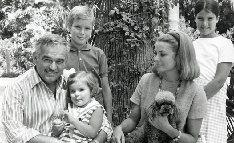 Prince Rainier and Princess Grace with their three children Albert, Caroline and Stephanie. Photo: Prince's Palace of Monaco