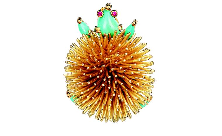 Van Cleef & Arpels hedgehog brooch 1960 belonging to Princess Grace
