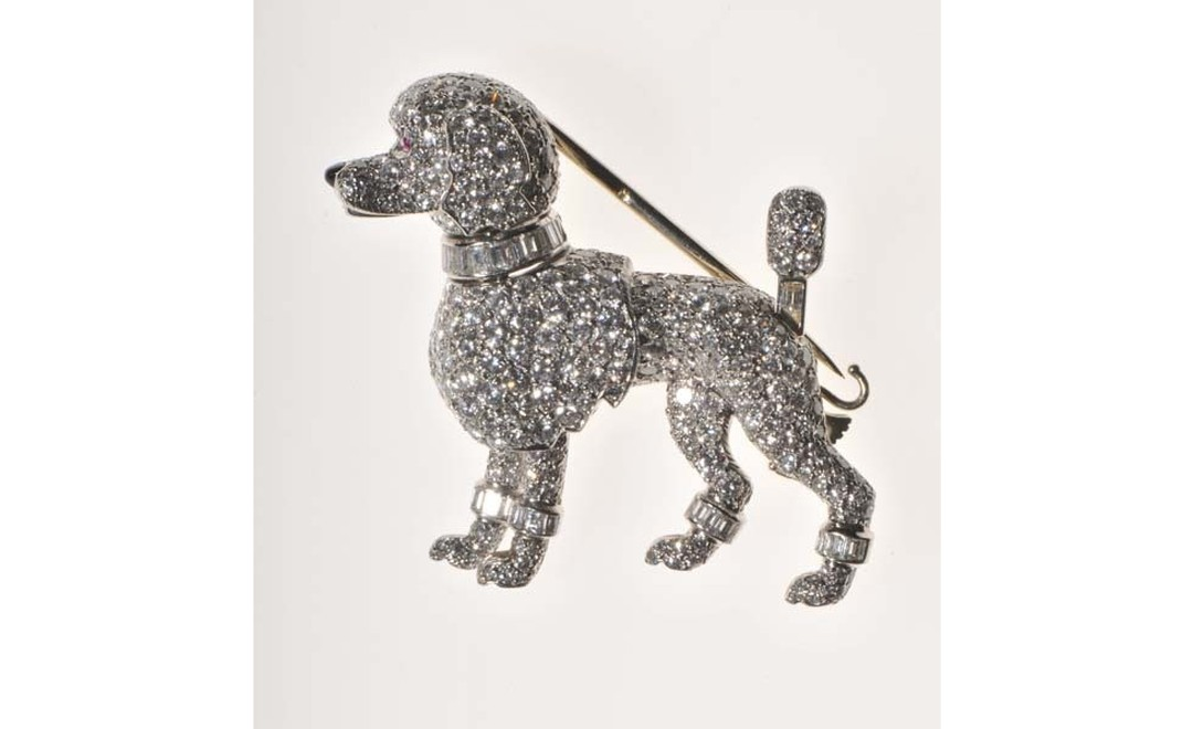 Broche-pince Caniche Cartier Paris, 1958