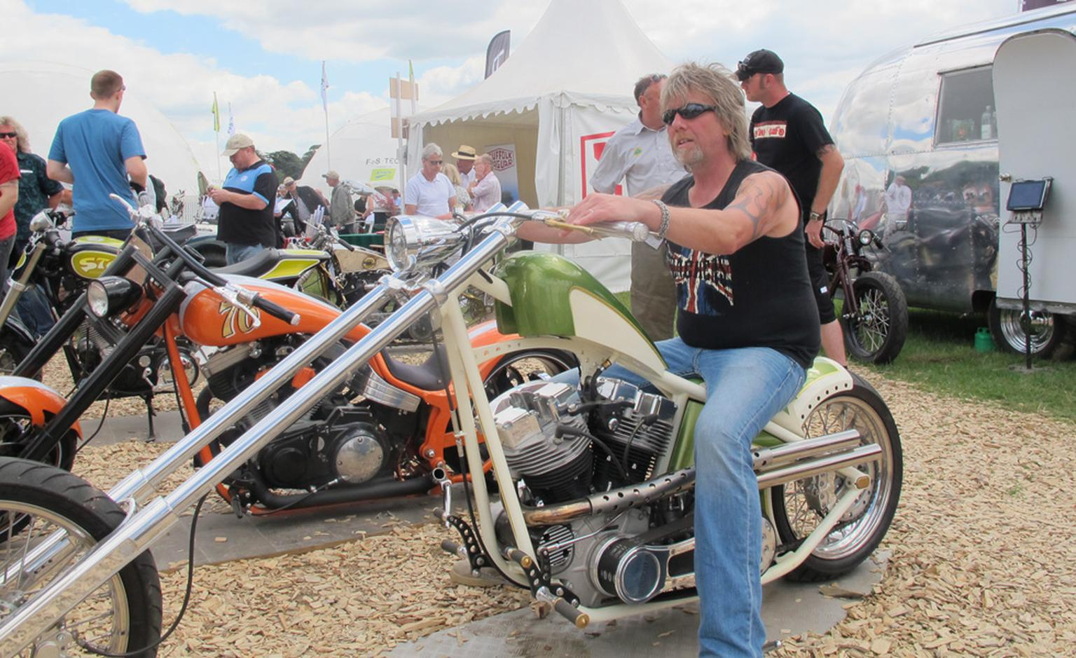One of Crazy Horse's customised machines.