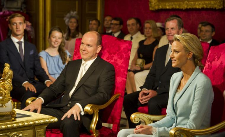 The civil wedding marriage between His Serene Highness Prince Albert II and the now Her Serene Highness Princess Charlene. Photo: Prince's Palace of Monaco