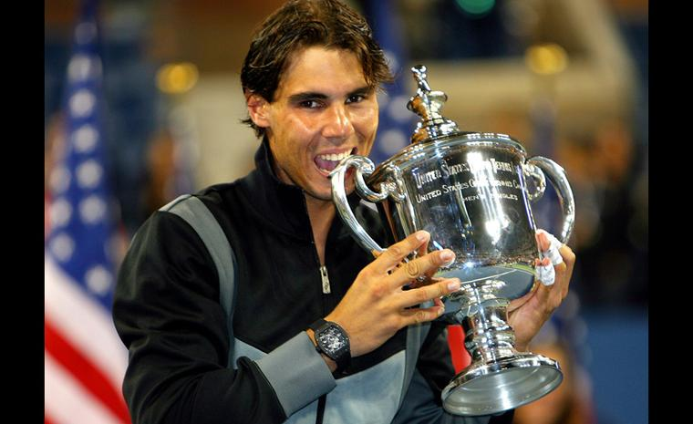 Is this Rafa's lucky watch? With the Richard Mille RM 027 Tourbillon after winning the US Open in Sept 2010