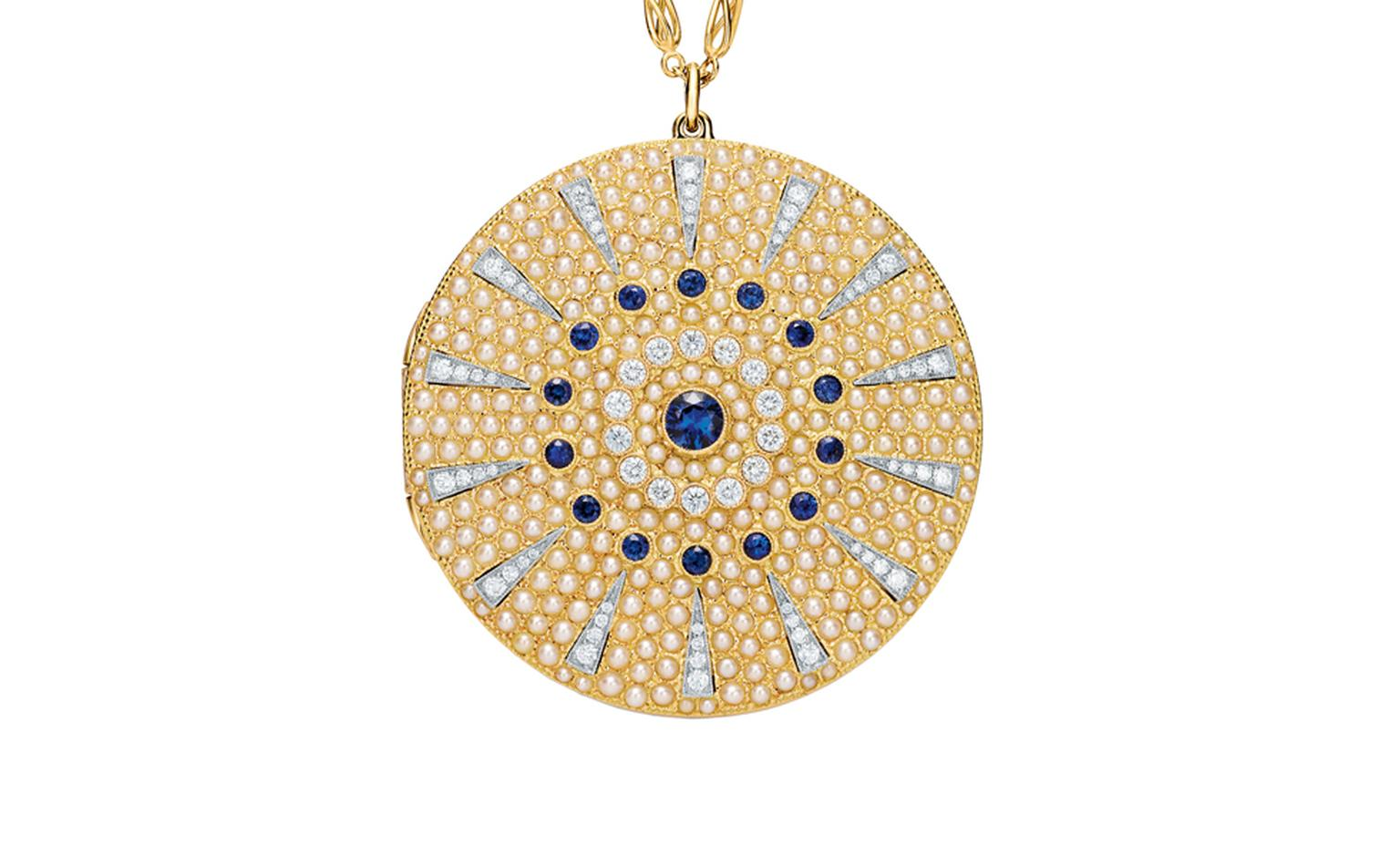 TIFFANY, diamond and sapphire locket. Price from $25,000