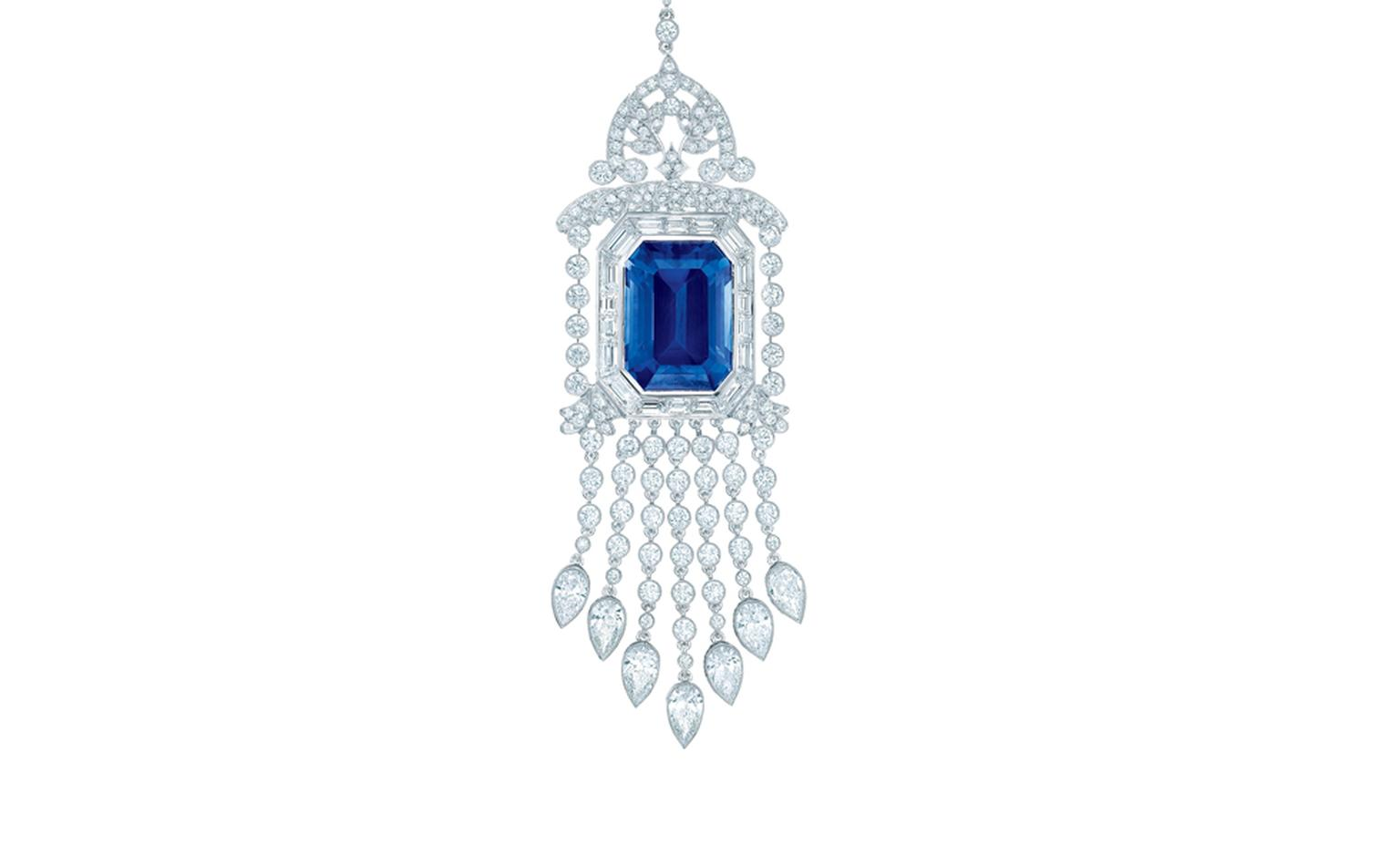 TIFFANY, Diamond and Sapphire Pendant. Price from $280,000