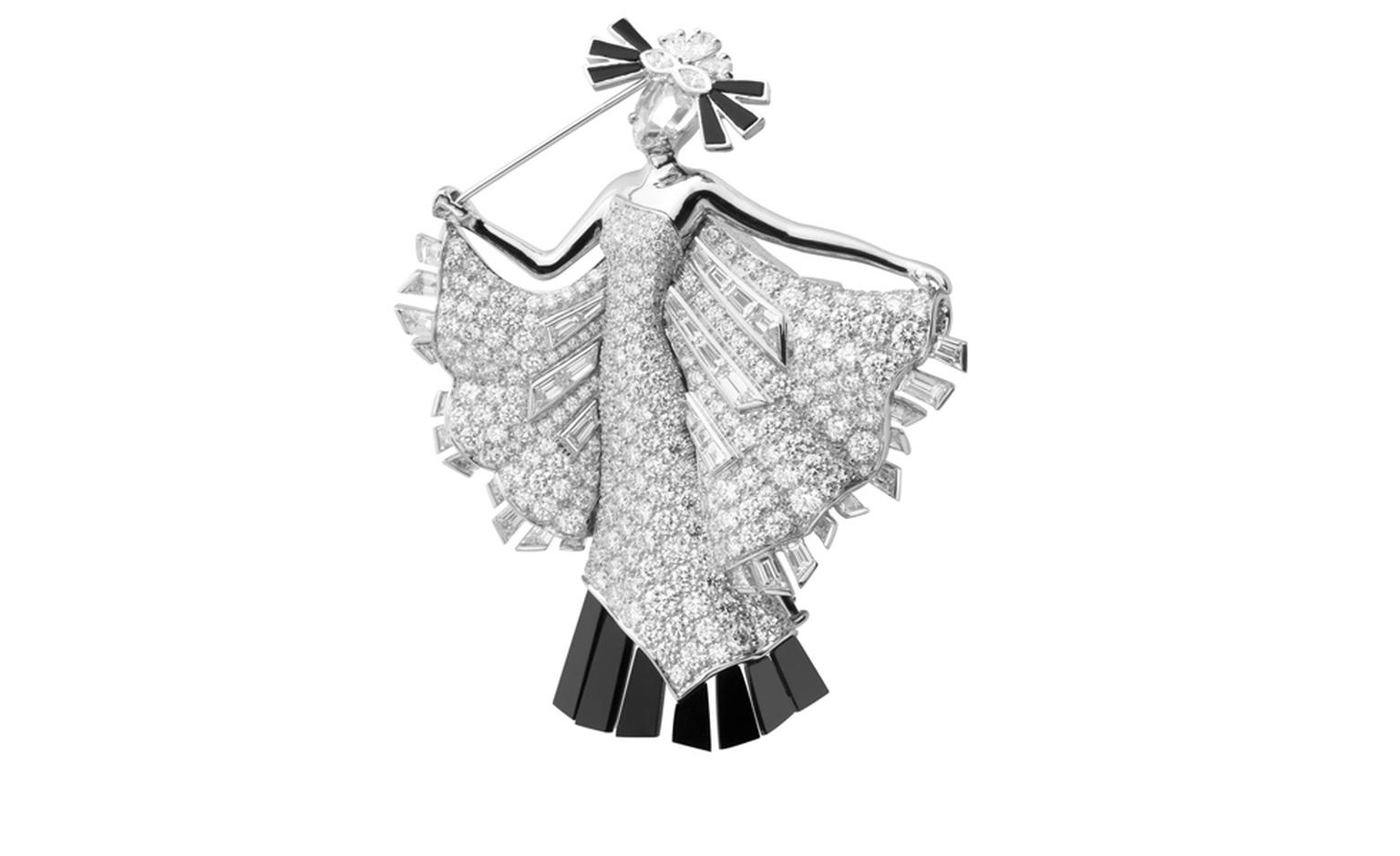 Van Cleef & Arpels, Bals de Légende, Le Bal Black and White, Diamond decor clip.